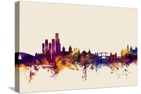 Amsterdam The Netherlands Skyline-Michael Tompsett-Stretched Canvas Print