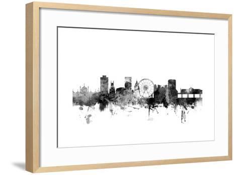 Brighton England Skyline-Michael Tompsett-Framed Art Print