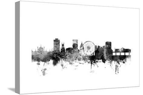 Brighton England Skyline-Michael Tompsett-Stretched Canvas Print