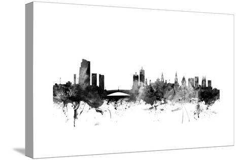 Leeds England Skyline-Michael Tompsett-Stretched Canvas Print