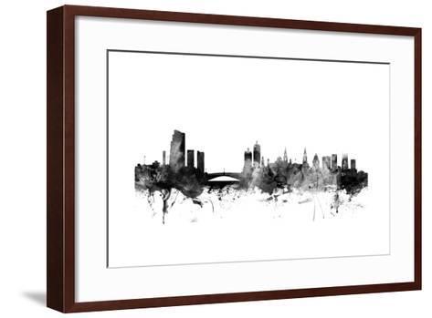 Leeds England Skyline-Michael Tompsett-Framed Art Print