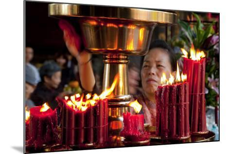 Candles In Longshan Temple Taipei-Charles Bowman-Mounted Photographic Print