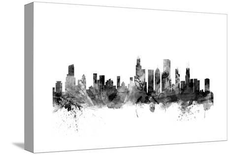 Chicago Illinois Skyline-Michael Tompsett-Stretched Canvas Print