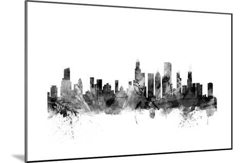 Chicago Illinois Skyline-Michael Tompsett-Mounted Art Print