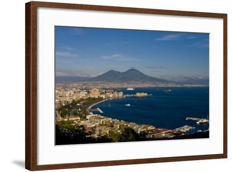 Vesuvius And Naples-Charles Bowman-Framed Art Print