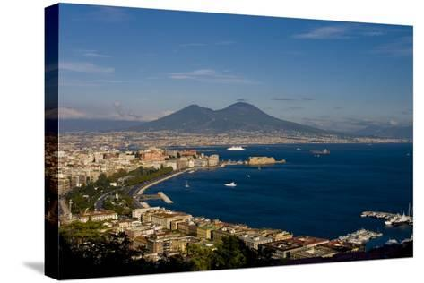 Vesuvius And Naples-Charles Bowman-Stretched Canvas Print