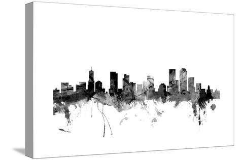 Denver Colorado Skyline-Michael Tompsett-Stretched Canvas Print