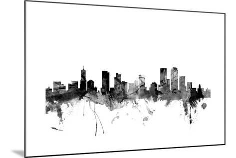 Denver Colorado Skyline-Michael Tompsett-Mounted Art Print