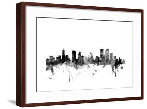 Denver Colorado Skyline-Michael Tompsett-Framed Art Print