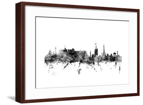 Edinburgh Scotland Skyline-Michael Tompsett-Framed Art Print