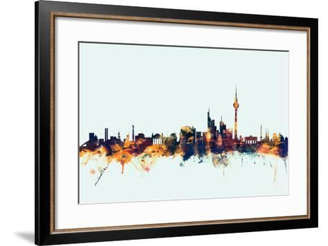 Berlin Germany Skyline-Michael Tompsett-Framed Art Print