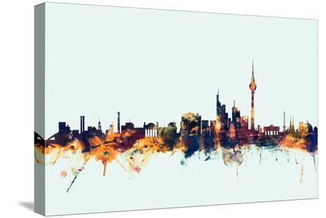 Berlin Germany Skyline-Michael Tompsett-Stretched Canvas Print