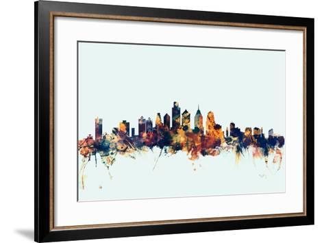 Philadelphia Pennsylvania Skyline-Michael Tompsett-Framed Art Print