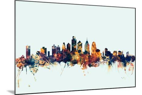Philadelphia Pennsylvania Skyline-Michael Tompsett-Mounted Art Print