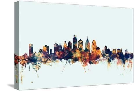Philadelphia Pennsylvania Skyline-Michael Tompsett-Stretched Canvas Print