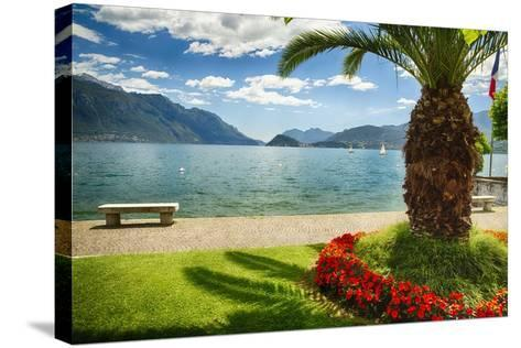 Lake View From Menaggio-George Oze-Stretched Canvas Print