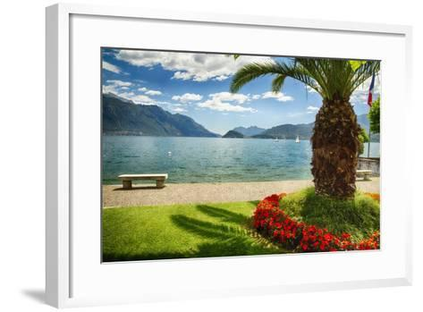 Lake View From Menaggio-George Oze-Framed Art Print