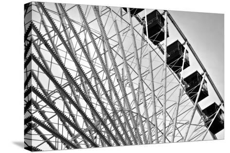Ferris Wheel Bw-John Gusky-Stretched Canvas Print