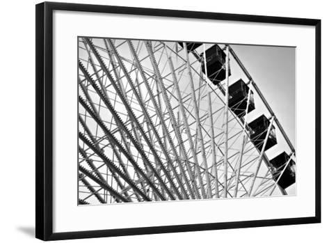 Ferris Wheel Bw-John Gusky-Framed Art Print