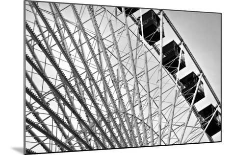 Ferris Wheel Bw-John Gusky-Mounted Photographic Print