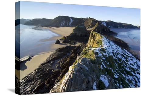 Wales Coast 3-Charles Bowman-Stretched Canvas Print