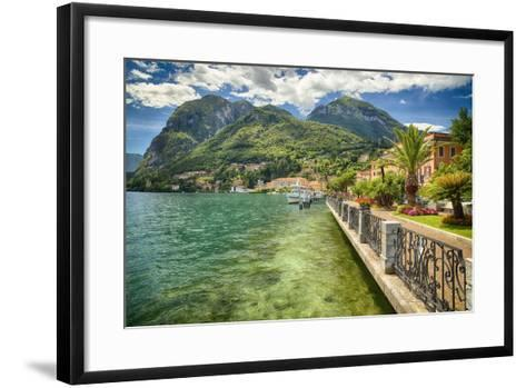 Lakeshore Scenic, Menaggio, Italy-George Oze-Framed Art Print