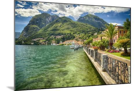 Lakeshore Scenic, Menaggio, Italy-George Oze-Mounted Photographic Print