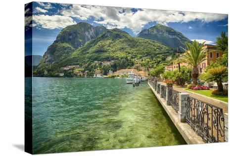 Lakeshore Scenic, Menaggio, Italy-George Oze-Stretched Canvas Print