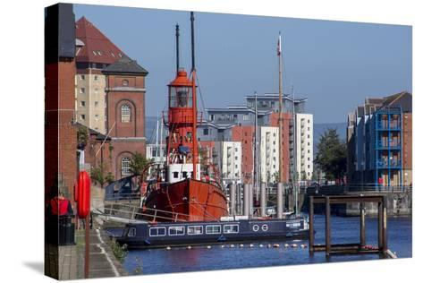 Swansea-Charles Bowman-Stretched Canvas Print