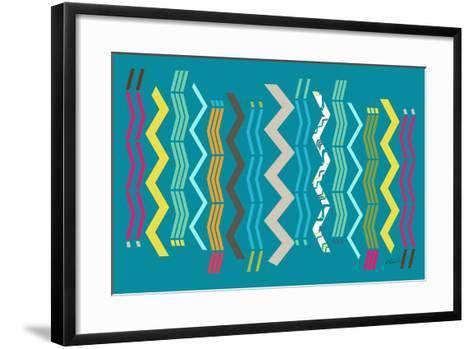 Modern Zigzags-Ruth Palmer-Framed Art Print