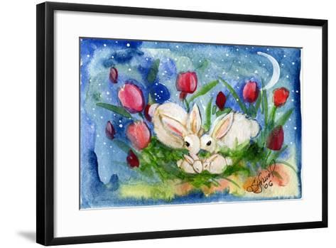 Bunny Family-sylvia pimental-Framed Art Print