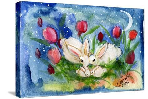 Bunny Family-sylvia pimental-Stretched Canvas Print