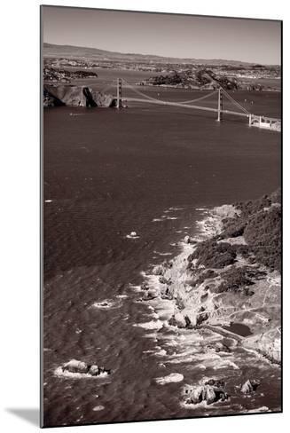 Golden Gate Aloft BW-Steve Gadomski-Mounted Photographic Print