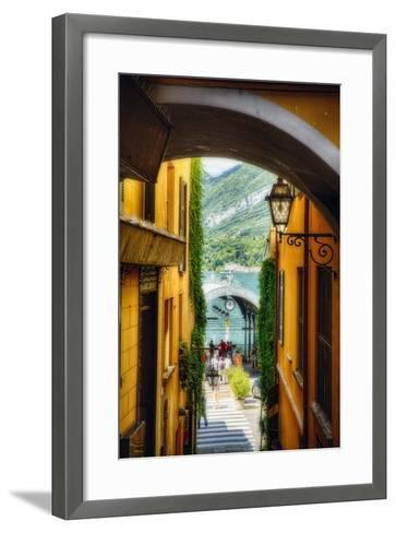 Alley With a Lake View, Bellagio, Lake Como, Italy-George Oze-Framed Art Print