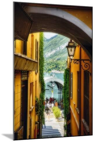 Alley With a Lake View, Bellagio, Lake Como, Italy-George Oze-Mounted Photographic Print
