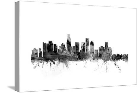 Los Angeles California Skyline-Michael Tompsett-Stretched Canvas Print