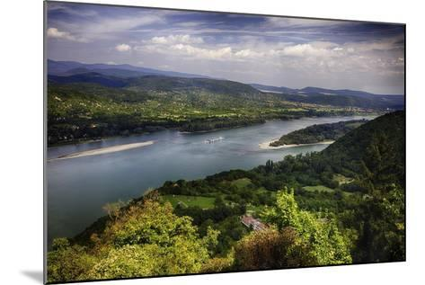 Danube River Scenic Panorma,Visegrad, Hungary-George Oze-Mounted Photographic Print