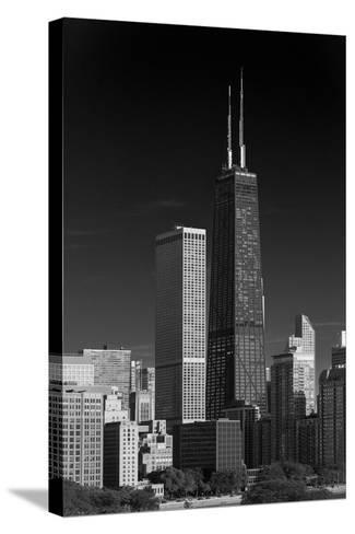 Streeterville Chicago Illinois BW-Steve Gadomski-Stretched Canvas Print
