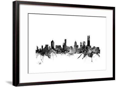 Melbourne Skyline-Michael Tompsett-Framed Art Print
