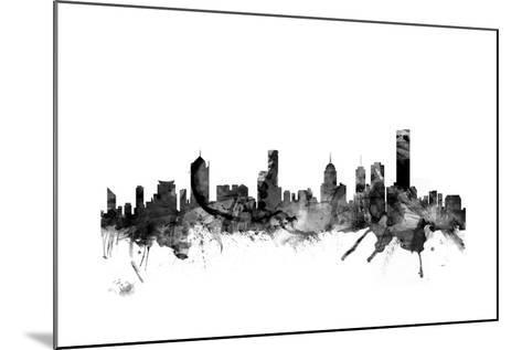 Melbourne Skyline-Michael Tompsett-Mounted Art Print