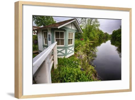 Bridge Tender House On The D&R Canal, New Jersey-George Oze-Framed Art Print