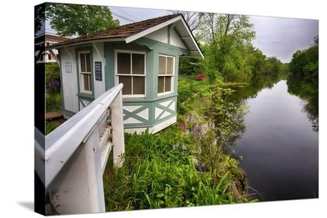 Bridge Tender House On The D&R Canal, New Jersey-George Oze-Stretched Canvas Print