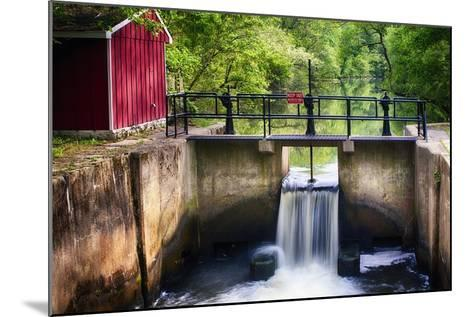 Lock on the D & R Canal, New Jersey-George Oze-Mounted Photographic Print
