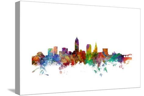 Cleveland Ohio Skyline-Michael Tompsett-Stretched Canvas Print
