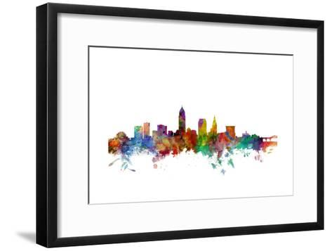 Cleveland Ohio Skyline Art Print by Michael Tompsett | Art.com