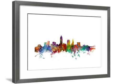 Cleveland Ohio Skyline-Michael Tompsett-Framed Art Print