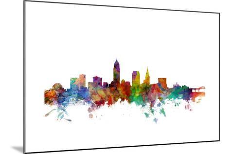 Cleveland Ohio Skyline-Michael Tompsett-Mounted Art Print