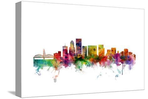 Portland Oregon Skyline-Michael Tompsett-Stretched Canvas Print