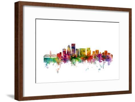 Portland Oregon Skyline-Michael Tompsett-Framed Art Print