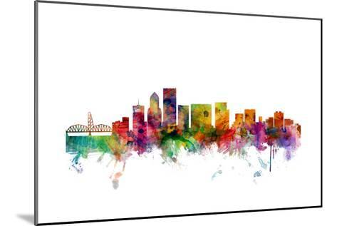 Portland Oregon Skyline-Michael Tompsett-Mounted Art Print